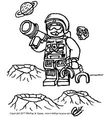 COLORING PAGES – Minifigs In Space