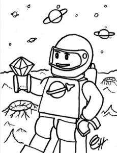 Coloring Pages Minifigs In Space
